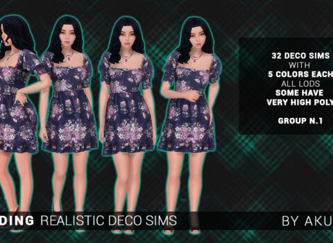 Realistic Deco Sims: Standing