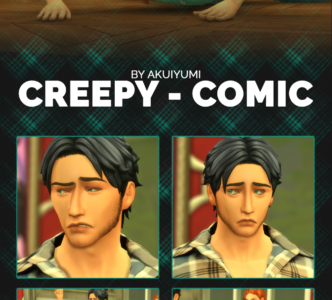 Creepy Comic poses