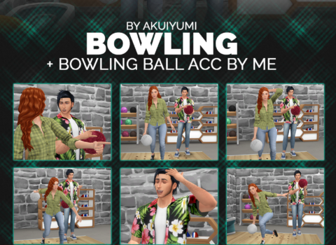 Bowling poses