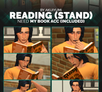 Reading (standing) poses