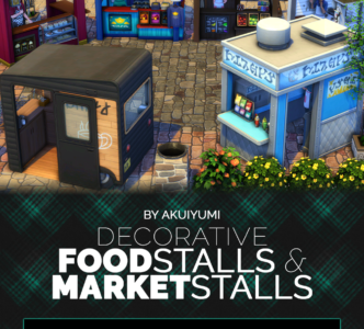 Food and market stalls deco