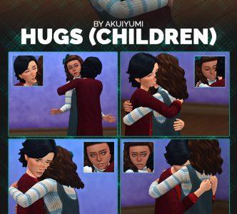 Hugs poses children & toddlers