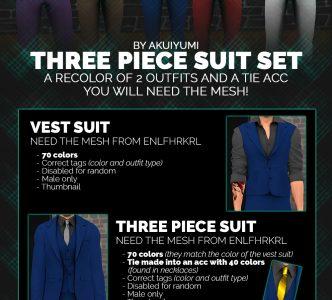 Three piece suit set, a recolor