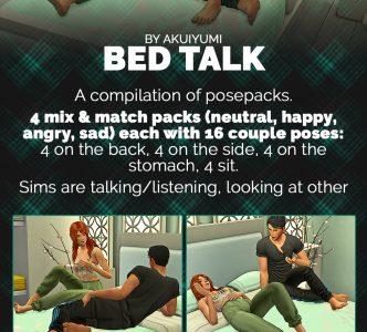 Bed talk pose compilation